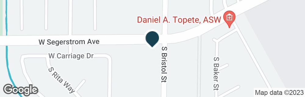 Google Map of3000 S BRISTOL ST