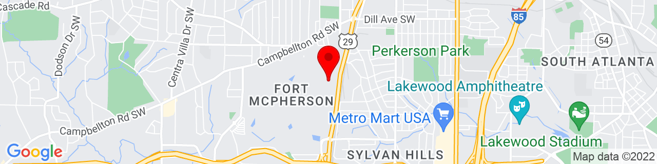 Google Map of 33.7095563, -84.4294209