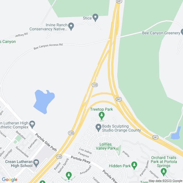 Map of Toll Road | SR-133 Orange Grove N