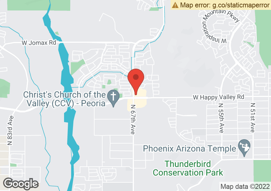 Google Map of 6640 W HAPPY VALLEY RD