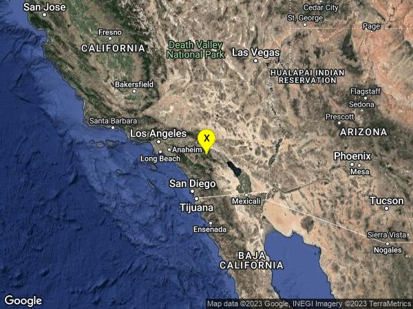 earthquake 3km SSW of Idyllwild, CA