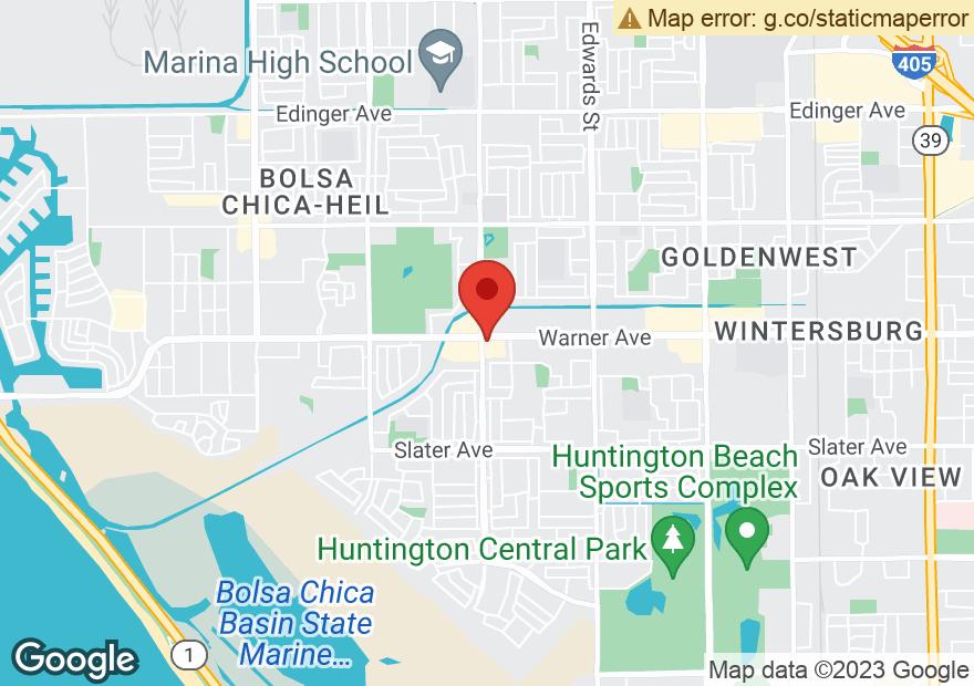 Google Map of 6012 WARNER AVE