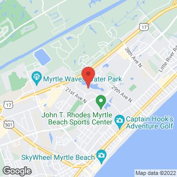 Map of Sunglass Hut at 1209 Celebrity Cir, Myrtle Beach, SC 29577