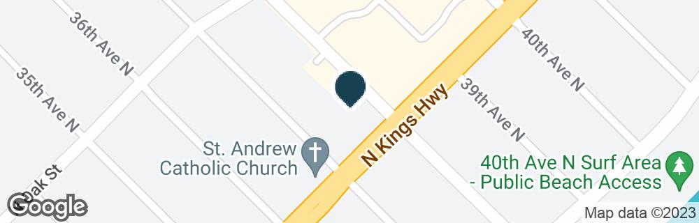 Google Map of3701 N KINGS HWY