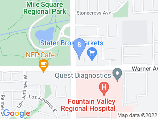 Map of Platinum Pet Care OC Dog Boarding options in Fountain Valley | Boarding