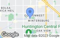 Map of Huntington Beach, CA