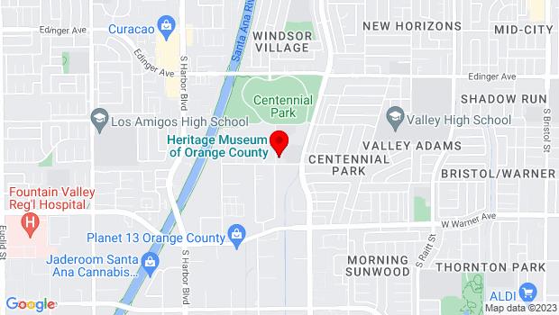 Google Map of 3101 West Harvard Street, Santa Ana, CA 92704