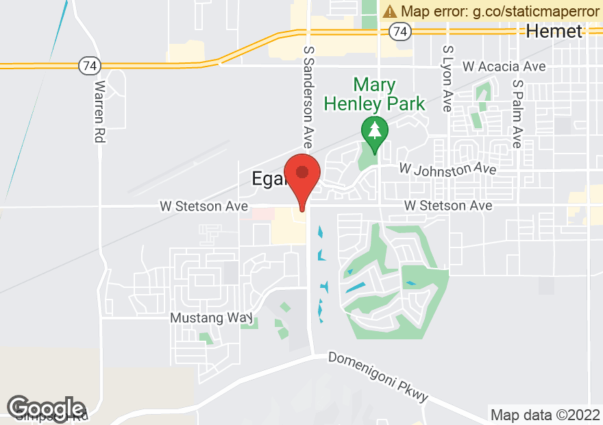 Google Map of 1101 S SANDERSON AVE