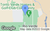Map of Rio Verde, AZ