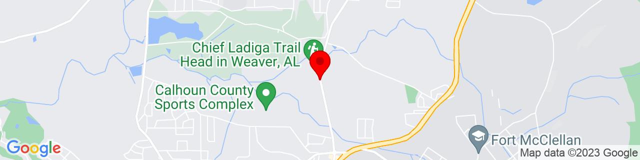 Google Map of 33.7361233, -85.8174339