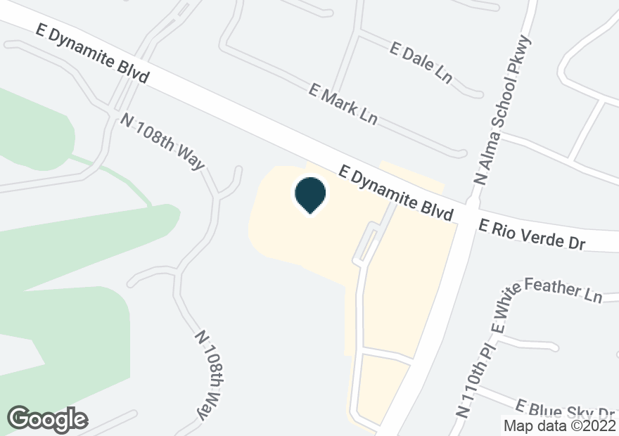 Google Map of10929 E DYNAMITE BLVD