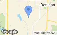 Map of Denison, TX