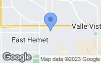 Map of Hemet, CA