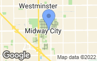Map of Midway City, CA