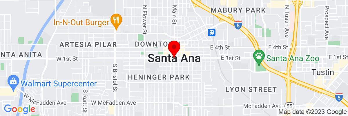 Google Map of 33.7454725,-117.86765305556