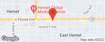 Map of 2129 E Florida Ave in Hemet