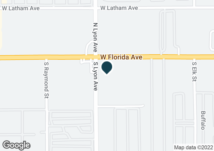 Google Map of1661 W FLORIDA AVE