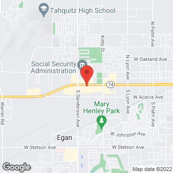 Map of Panera Bread at 3013 W. Florida Ave, Hemet, CA 92545