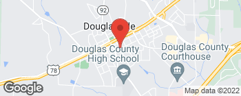 Map of 8442 Adair St in Douglasville