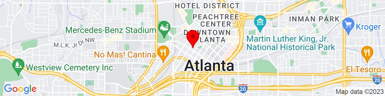 Google Map of 33.7529162, -84.3924535