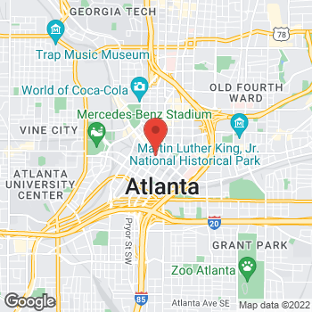 Map of Jerry's Pawn at 21 Decatur St SE, Atlanta, GA 30303