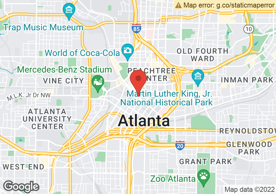 Google Map of 25 PEACHTREE ST SE