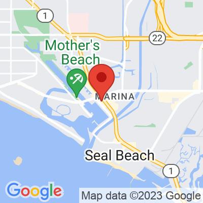Map showing Caffe Luxxe (Long Beach)