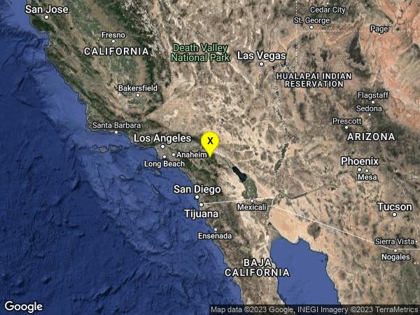 earthquake 4km WNW of Idyllwild, CA