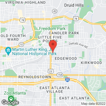 Map of Bed Bath & Beyond at 1235 Caroline Street Northeast, Atlanta, GA 30307