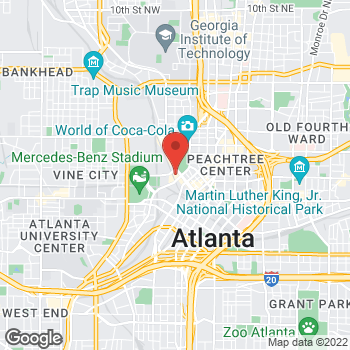 Map of Arby's at 1 Cnn Center, Atlanta, GA 30303