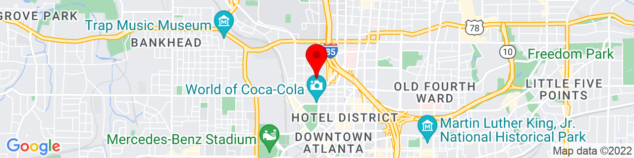 Google Map of 33.7659443, -84.39240459999999