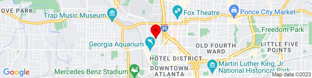 Google Map of 33.7666973, -84.3930973