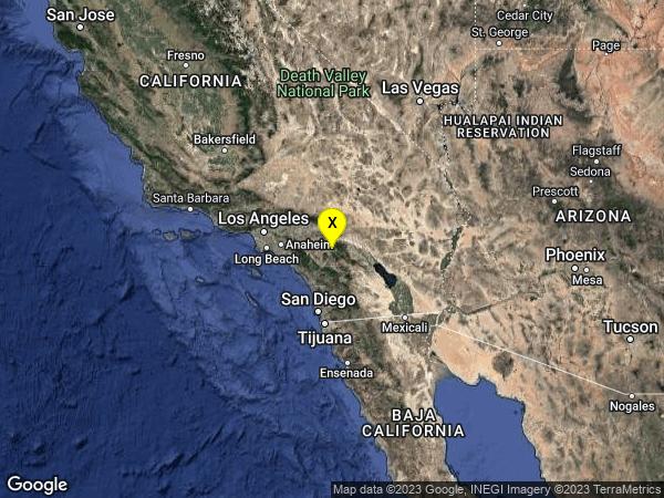 earthquake 2km NNW of Valle Vista, CA