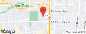 Map of 2431 N Tustin Ave in Santa Ana