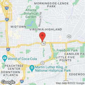 Map of Staples at 650 Ponce De Leon Ave, Atlanta, GA 30308