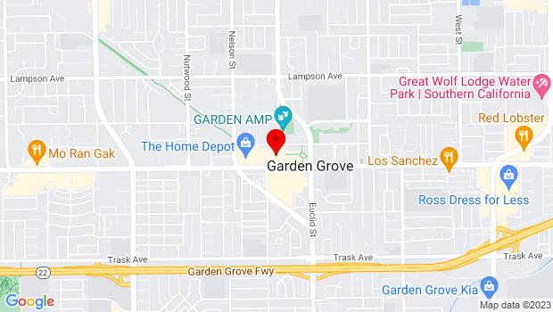 Google Map of 12911 Main Street, Garden Grove, CA 92840
