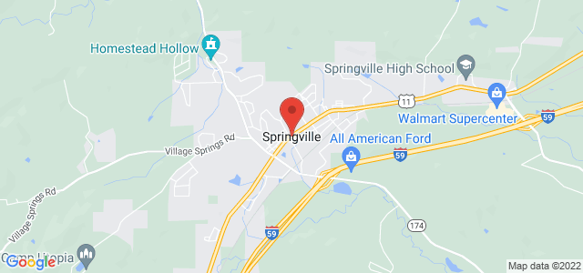 Springville Florist Map