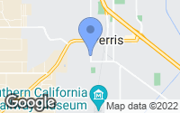 Map of Perris, CA