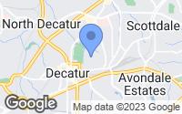 Map of Decatur, GA
