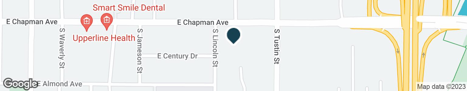 Google Map of1538 E CHAPMAN AVE