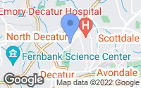 Map of Decatur, GA