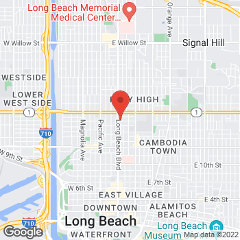Map of Check `n Go Long Beach Boulevard at 1706 Long Beach Boulevard, Long Beach, CA 90813
