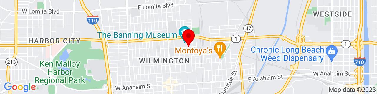 Google Map of 33.7891255, -118.2573174