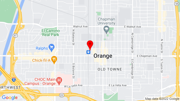 Google Map of 167 N. Atchison Street, Orange, CA 92866