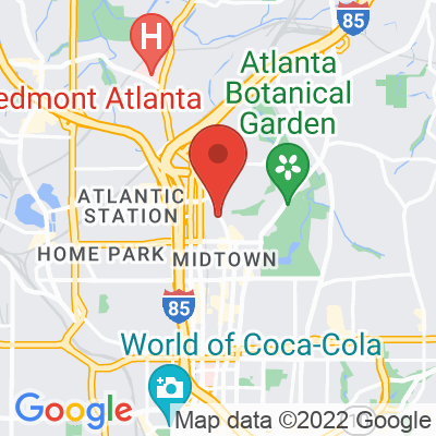 Map showing Octane Coffee Bar — Peachtree