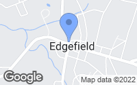 Map of Edgefield, SC