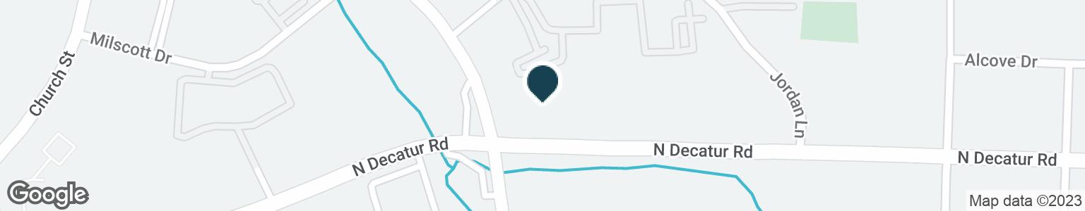 Google Map of585 DEKALB INDUSTRIAL WAY