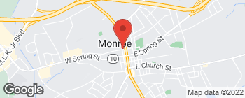 Map of 120 W Highland Ave in Monroe