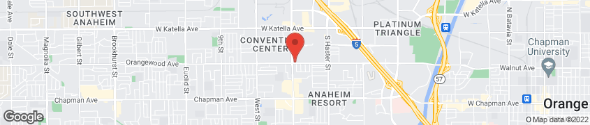 Map of 2080 S Harbor Blvd in Anaheim