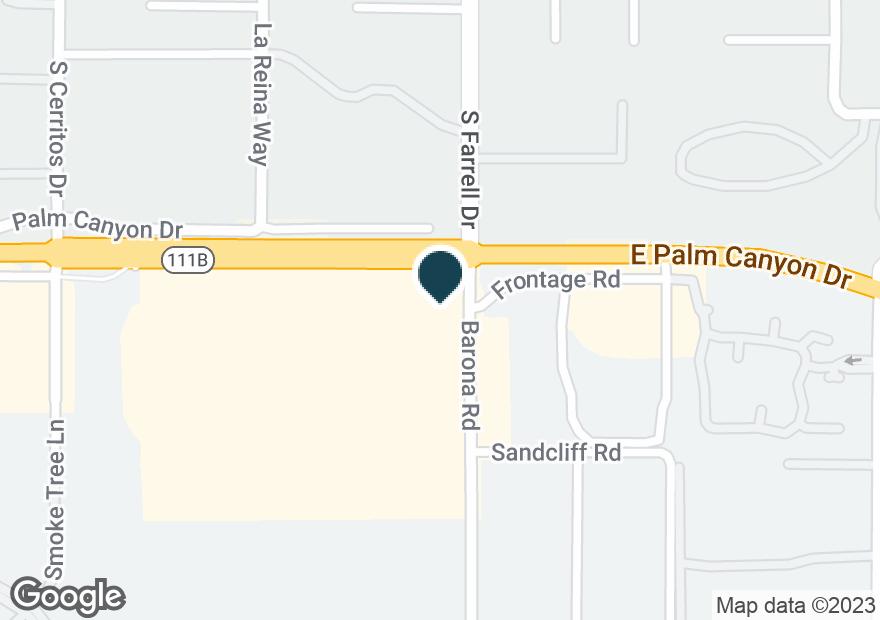 Google Map of2465 E PALM CANYON DR